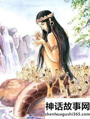 女娲造人的神话故事