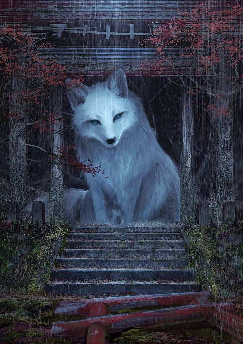 乾元观白狐听《皇经》
