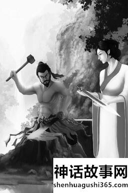 干将镆铘铸剑的故事